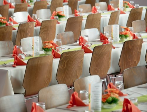 tables et chaises de mariage